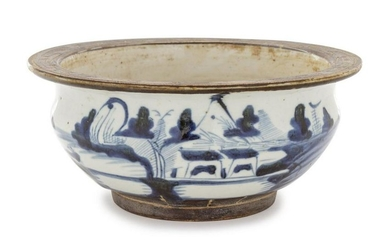 A Chinese Export Blue and White Porcelain Bowl