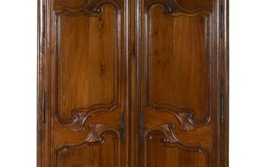 A French Provincial Walnut Armoire