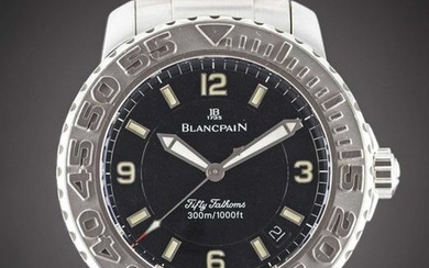 A GENTLEMAN'S STAINLESS STEEL BLANCPAIN FIFTY FATHOMS