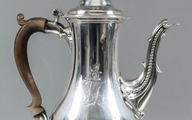 A George III Silver Baluster Shaped Coffee Pot, by...