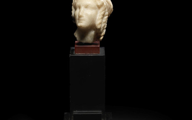 A Greek marble head of a Ptolemaic Princess or Isis