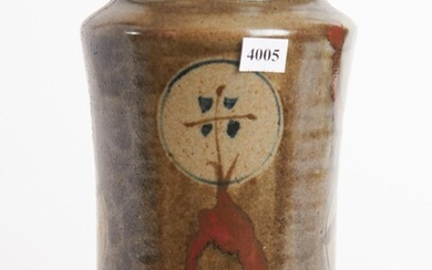 A JAPANESE STUDIO POTTERY VASE, H.27CM, LEONARD JOEL LOCAL DELIVERY SIZE: SMALL
