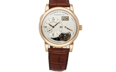 A. LANGE & SOHNE | LANGE 1 TOURBILLON REF 704.032, A ROSE GOLD TOURBILLON WRISTWATCH WITH DATE AND POWER RESERVE CIRCA 2000