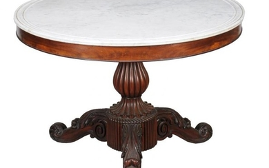 A Louis Philippe mahogany centre table
