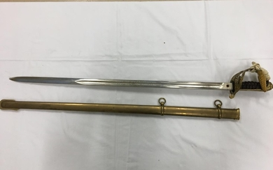 A Victorian pattern officers sword and sheath