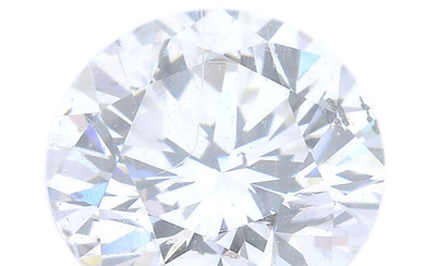 A brilliant-cut diamond, weighing 0.61ct, with report, within a security seal.