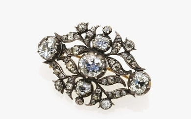 A brooch with diamonds