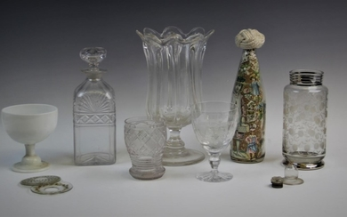 A collection of 19th century and later glassware, comprising...