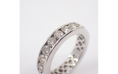 A diamond full eternity ring finger size approx. L