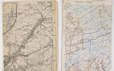 ALLIED WAR-DATE MAPS OF FRANCE AND GERMANY (2)