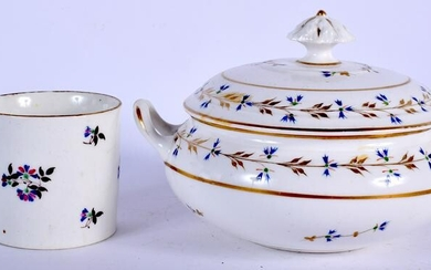 AN 18TH CENTURY DERBY TUREEN AND COVER together with