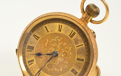 AN EARLY 20TH CENTURY 18CT GOLD OPEN FACE POCKET WATCH, the ...