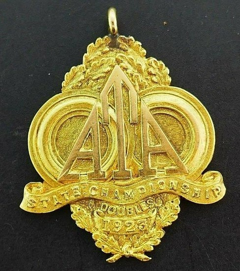 Antique 14k Yellow Gold Sports-Themed Pendant