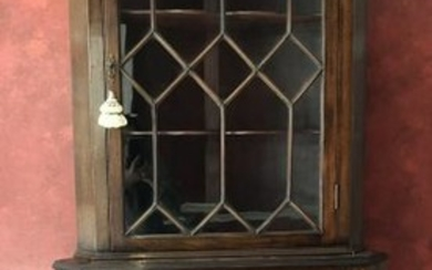 Antique English Adams Style Glass Front Cabinet