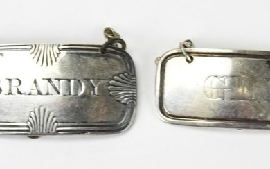 Antique English Sterling Silver Decanter Labels