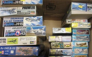 Approximately forty boxed aircraft construction kits includi...