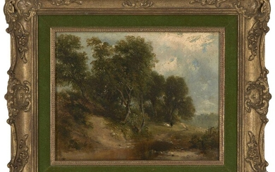 Attributed to George Vincent, British 1796-c.1832- Norfolk landscape; oil on...