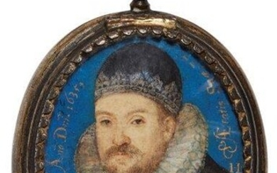 Attributed to Laurence Hilliard, English 1581/82-1648- Portrait...