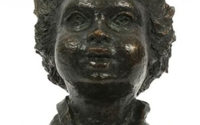 BETTY JACOBS, USA, BRONZE BUST OF CHILD