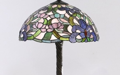 Baroque Style Leaded Stain Glass Decorative Table Lamp