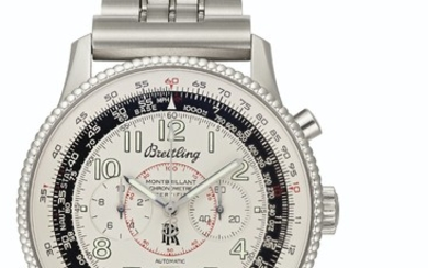 Breitling. A Fine Stainless Steel Automatic Chronograph Wristwatch, Formerly Belonging to Mercury, Gemini, and Apollo Astronaut, Wally Schirra, SIGNED BREITLING, MONTBILLANT CHRONOMETRE, SPECIAL EDITION, NO. A35330, NO. 702982, CIRCA 2003