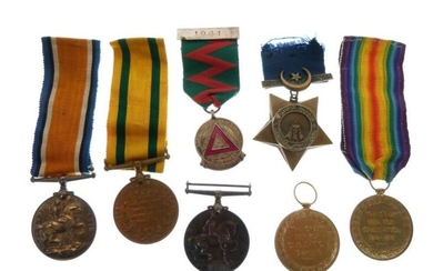 British First World War Medal group awarded to 327Dvr.E.F.Willis...