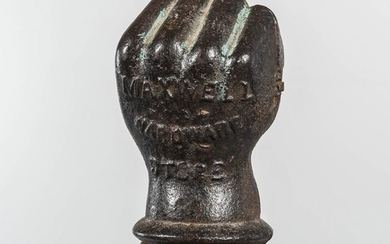 Cast Iron Advertising Clenched Fist Post