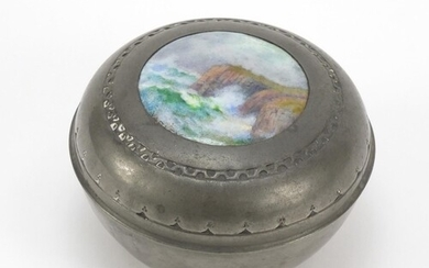 Charles Varley for Liberty & Co, Arts & Crafts pewter box an...