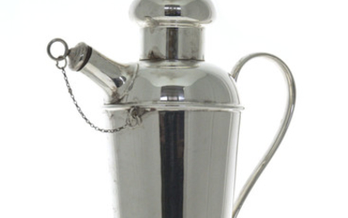 Cocktail Shaker, Harrison Brothers & Howson, Silver Plated, Sheffield, England, Circa 1920