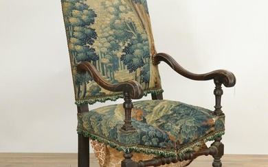 Cont. Baroque Chair, 17th C., Brussels Verdure