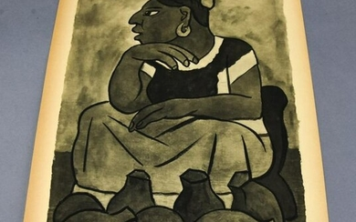 Diego Rivera Pencil Signed Lithograph1937