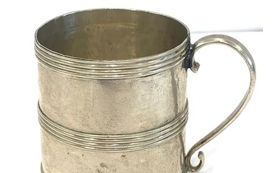 Early silver mug makers mark only probably provincial
