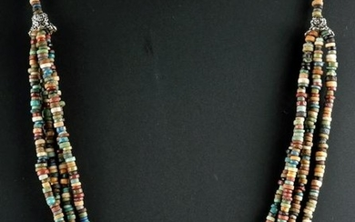 Egyptian Faience Bead Necklace - Four Strands