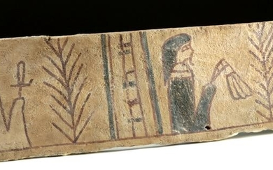 Egyptian Gesso / Painted Wood Coffin Panel