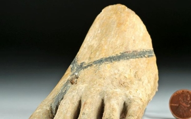 Egyptian Gesso / Wood Left Foot (from Statue)