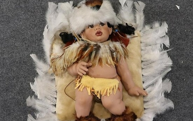 Fayzah Spanos, Native American Doll Signed # 372/500