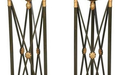 Fine Pair of Directoire Style Urn Stands