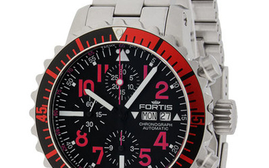 Fortis - Aquatis Marinemaster Automatik Chronograph Red - 671.23.43 M - Men - 2011-present