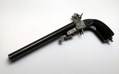 France - Mas (Manufacture D'Armes De St. Etienne) - Double Barrel - Pinfire (Lefaucheux) - Pistol, big model - 12mm cal