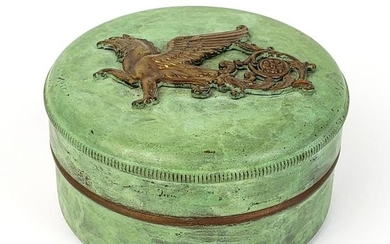 French Painted Copper Powder Box
