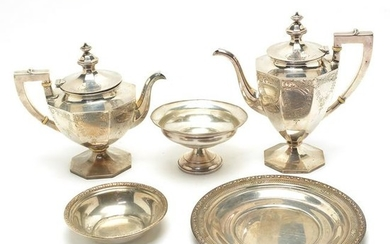 Gorham Sterling Silver Coffee and Teapot with