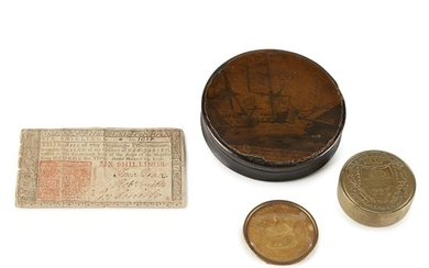 Group of four household items 18th/19th century Comprising a...