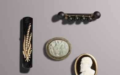 Group of mourning jewelry