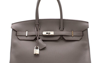 HERMÈS | ETAIN BIRKIN 35 IN TOGO LEATHER WITH PALLADIUM HARDWARE, 2013