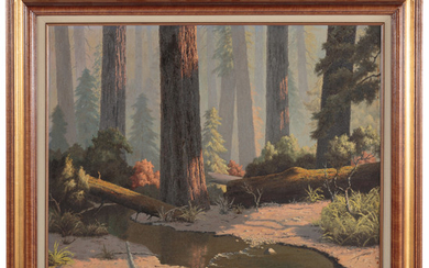 """Howard Little. """"A Stream Through the Forest"""""""