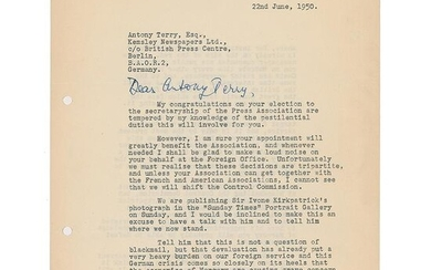 Ian Fleming Typed Letter Signed