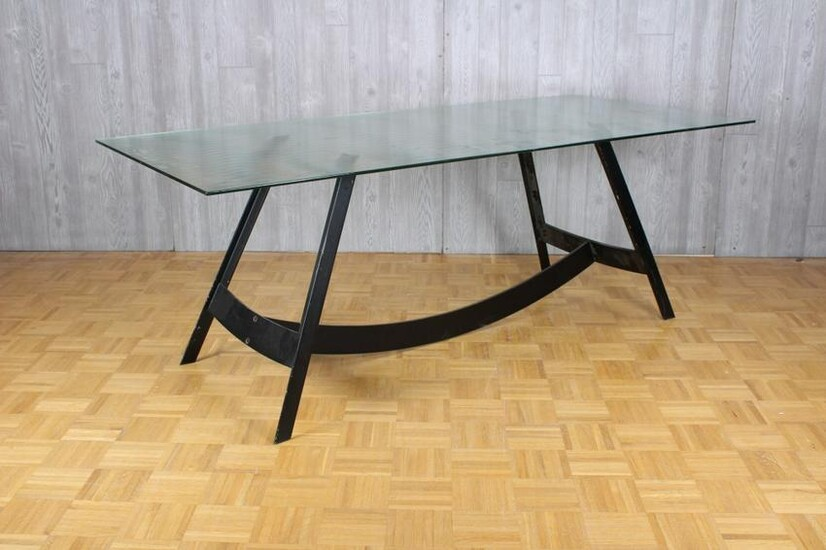 Italian Modern Iron Base Dining Table