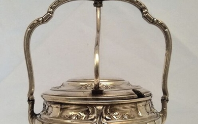 Jam pot- .800 silver - Portugal - Early 20th century