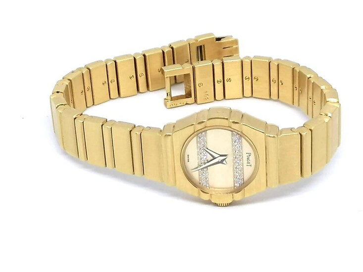 Lady's yellow gold and diamond Signed Piaget Circa 1980
