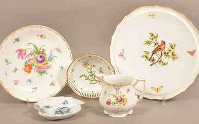Lot of Dresden and Meissen Porcelain.